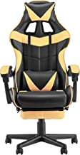 Soontrans PC Gaming Chair,Ergonomic Office Chair with Retractable Footrest,Adjustable Headrest and Lumbar Support,Racing C...