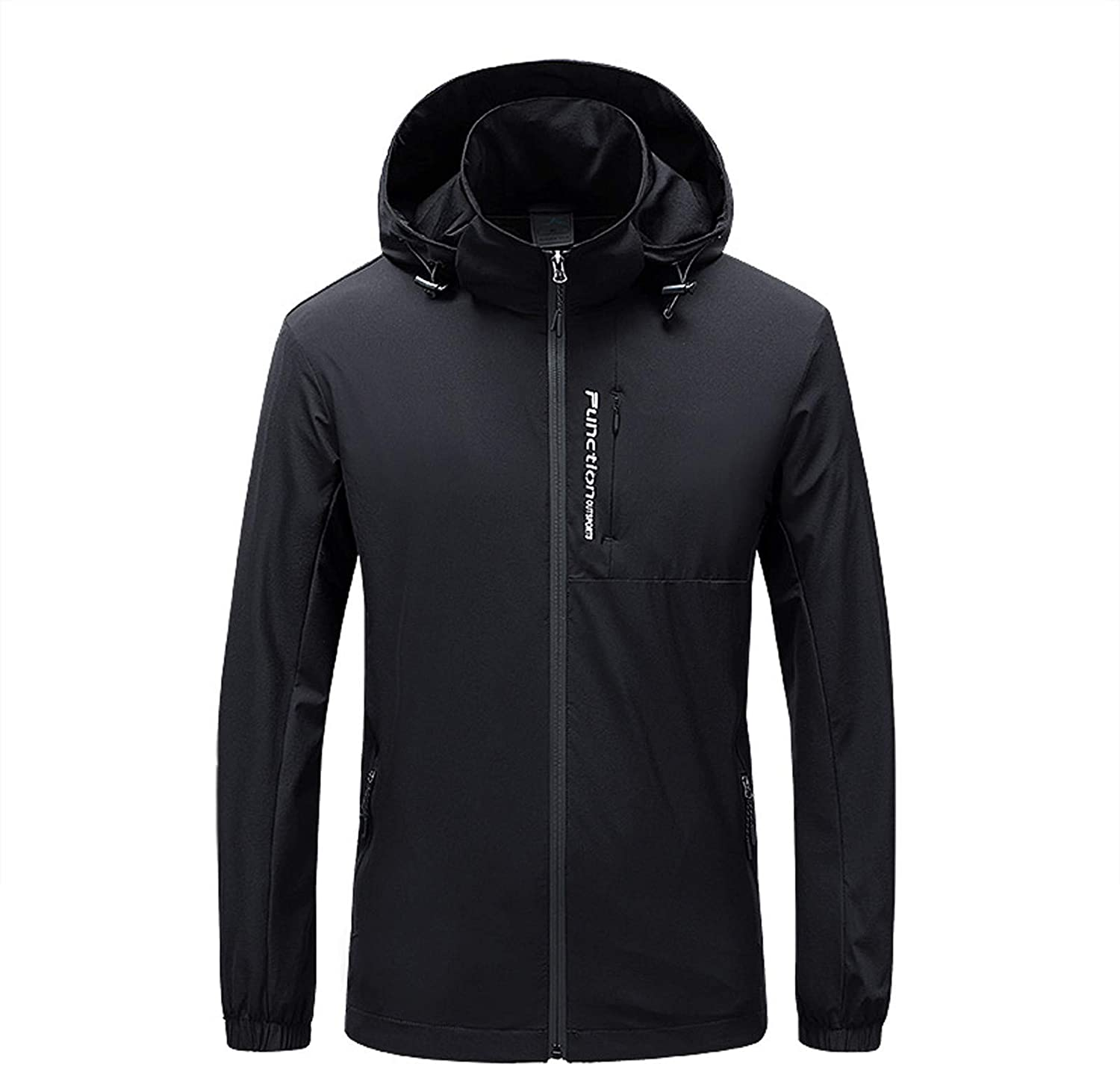 Men's Windbreaker Lightweight Warm Jacket Fashion Hooded Max 68% OFF W Don't miss the campaign Solid