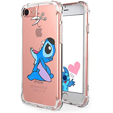 "Logee Cute Cartoon Clear Case for iPhone 8/iPhone 7 /iPhone SE 2020 4.7"",Fun Kawaii Animal Soft Cover,Shockproof Funny Creative Character Cases for Kids Teens Girls Boys (iPhone7/8/SE 2020)"