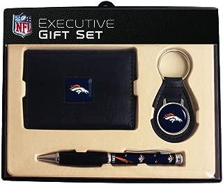 NFL Trifold Wallet, Key Fob & Comfort Grip Pen Gift Set