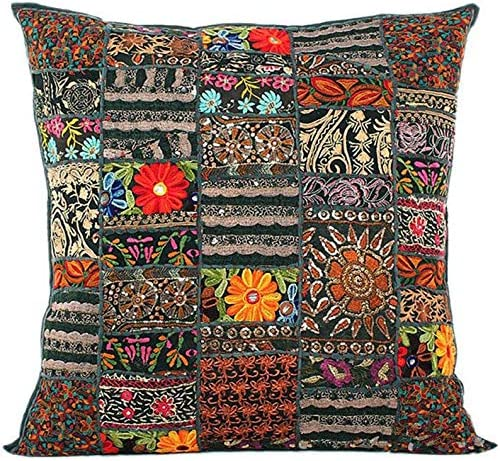 RSG Venture 24x24 lnches Large Indian Decorative Cushion Cover Bohemian Throw Pillows for Couch product image