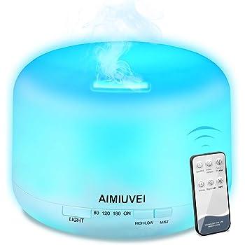 AIMIUVEI 500ml Humidificador Aromaterapia Ultrasonico con Mando a ...