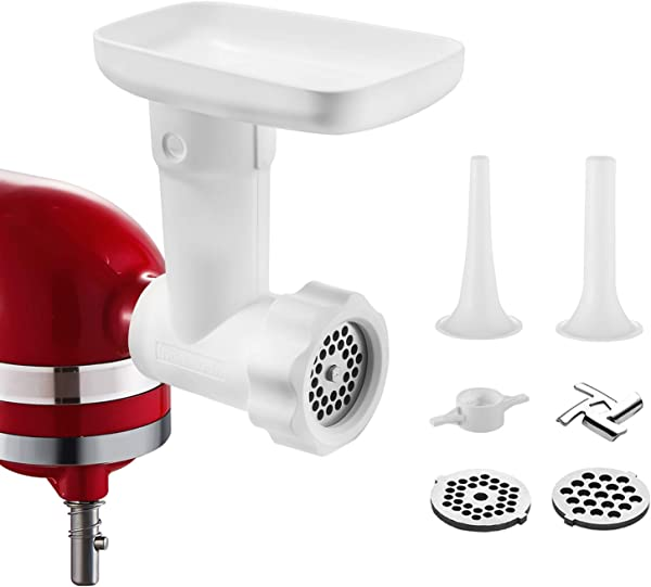 Food Grinder Attachment For Kitchenaid Stand Mixers As Meat Mincer Accessory Including Sausage Stuffer Tubes