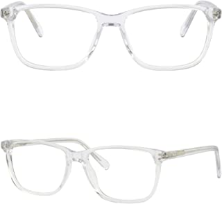6c54f5bce2b Clear Men Women Acetate Frames Light Transparent Glasses Spring Hinges  Rectangle