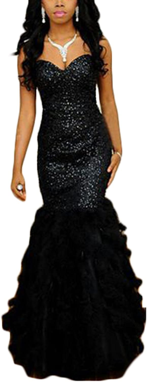 Ri Yun Sexy Sweetheart Beaded Feather Mermaid Prom Dresses Long 2018 Formal Evening Gowns for Women
