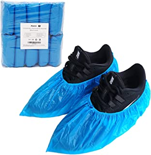 Extra-Thick Premium Disposable-Shoe-Covers 100 Pack (50 Pairs), Waterproof & Durable, Anti-Slip Boot Covers (Large Size - up to US Men's 11 & US Women's 13)