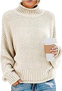Women Cable Knit Oversized Pullover Sweater Tops Long Sleeve Turtleneck Blouse