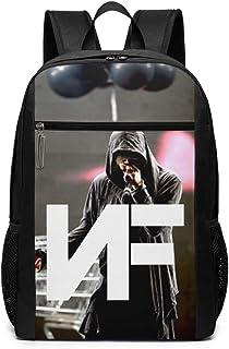 Travel Bckpack NF Rapper Print Custom Business Bckpack for College School Computer Bag for Women Men for 17 Inch Laptop