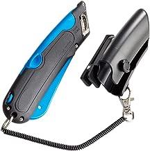 COSCO 091524 Box Cutter Knife w/Shielded Blade, Black/Blue