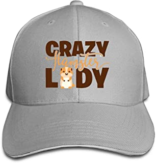 Adult Crazy Hamster Lady Cotton Lightweight Adjustable Peaked Baseball Cap Sandwich Hat Men Women