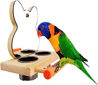[S.fields.inc] バードアスレチック 鳥スタンド 止まり木 餌台 鳥かご インコ オウム 遊園地 ブランコ ケージスタンド (ミラー)