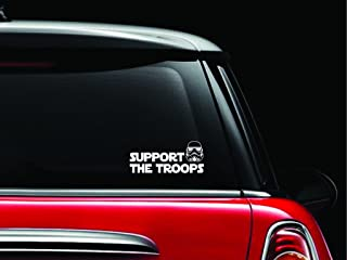 CCI Support The Troops Star Wars Storm Trooper Decal Vinyl Sticker|Cars Trucks Vans Walls Laptop| White |7.5 x 3.25 in|CCI1152