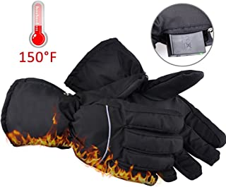 Bluejaye Winter Warm Heated Gloves for Men and Women, Battery Operated Electric Gloves with Motion Battery Operated Box for Travel, Hiking,Rock Climbing,Skiing,Cycling, Hunting, Outdoor Sports