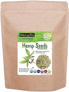 Wilderness Poets Hulled Hemp Seeds, Organic Raw Hemp Hearts (32 Ounce - 2 Pound)