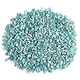 Top Plaza Natural Amazonite Tumbled Chips Crushed Stones Reiki Healing Quartz Crystals Irregular Shaped Gemstones 0.45lb