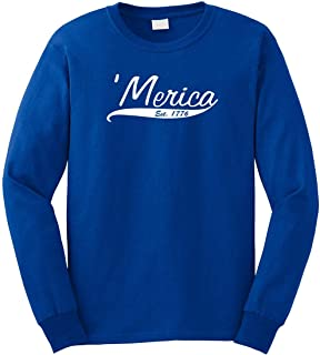 Merica Est 1776 Men's Long Sleeve Shirt