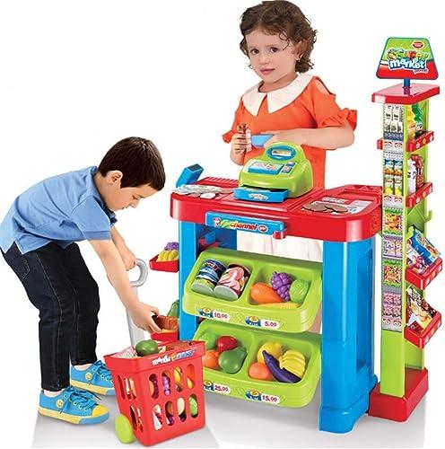 Maybesky Kit Miniature Fait à la Main pour l'achat et la Vente de Jouets pour la Maison, Le supermarché, Le Chariot de Courses, Les Filles et Les Garçons