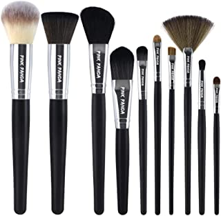 PINKPANDA Makeup Brushes,10 Pcs Makeup Brush Set,Premium Synthetic for Foundation Brush Blending Face Powder Blush Conceal...