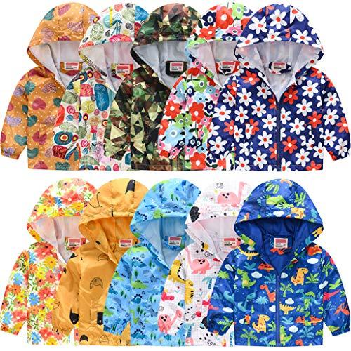 TUDUZ-Mantel Kinder Jacke Übergangsjacke Kapuzenjacke für Mädchen Jungen Süß Leichte Winddicht Atmungsaktiv Wanderjacke Outdoorjacke(Style4-J,130)