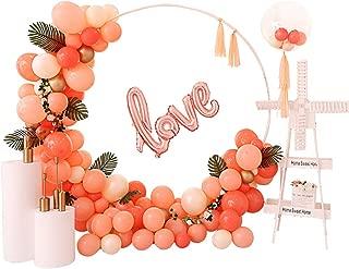 LANGXUN Blanco Redondo Anillo Forma Globo Arco Boda telón de Fondo Soporte Fiesta decoración Flor Artificial Globo Soporte Estante Suministro de Navidad