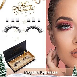 8 Pcs Magnetic Eyelashes False Eyelashes Natural Full Eyes lashes, 3D-5 Magnetic Lashes Silk Glueless Ultra Thin False Eyelashes Reusable Lashes