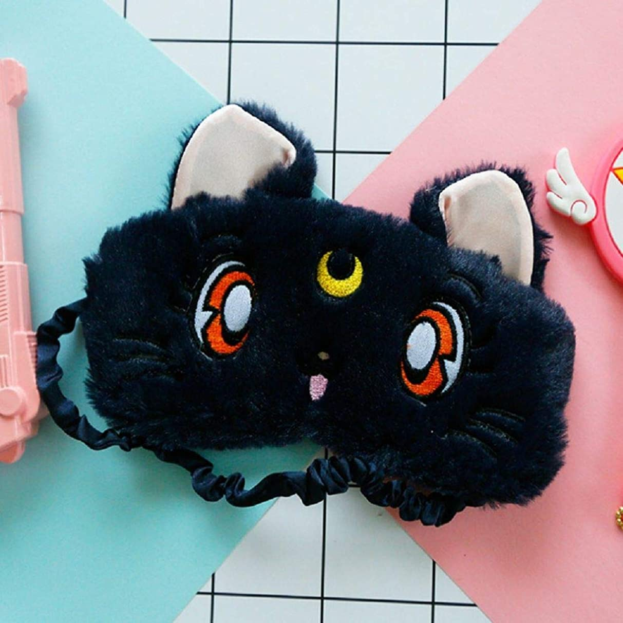 祈りくちばし魅力的であることへのアピールNOTE 1ピース新しい快適なかわいいアイマスク用休息と睡眠猫パターン目隠しマスク旅行リラックス援助目隠し