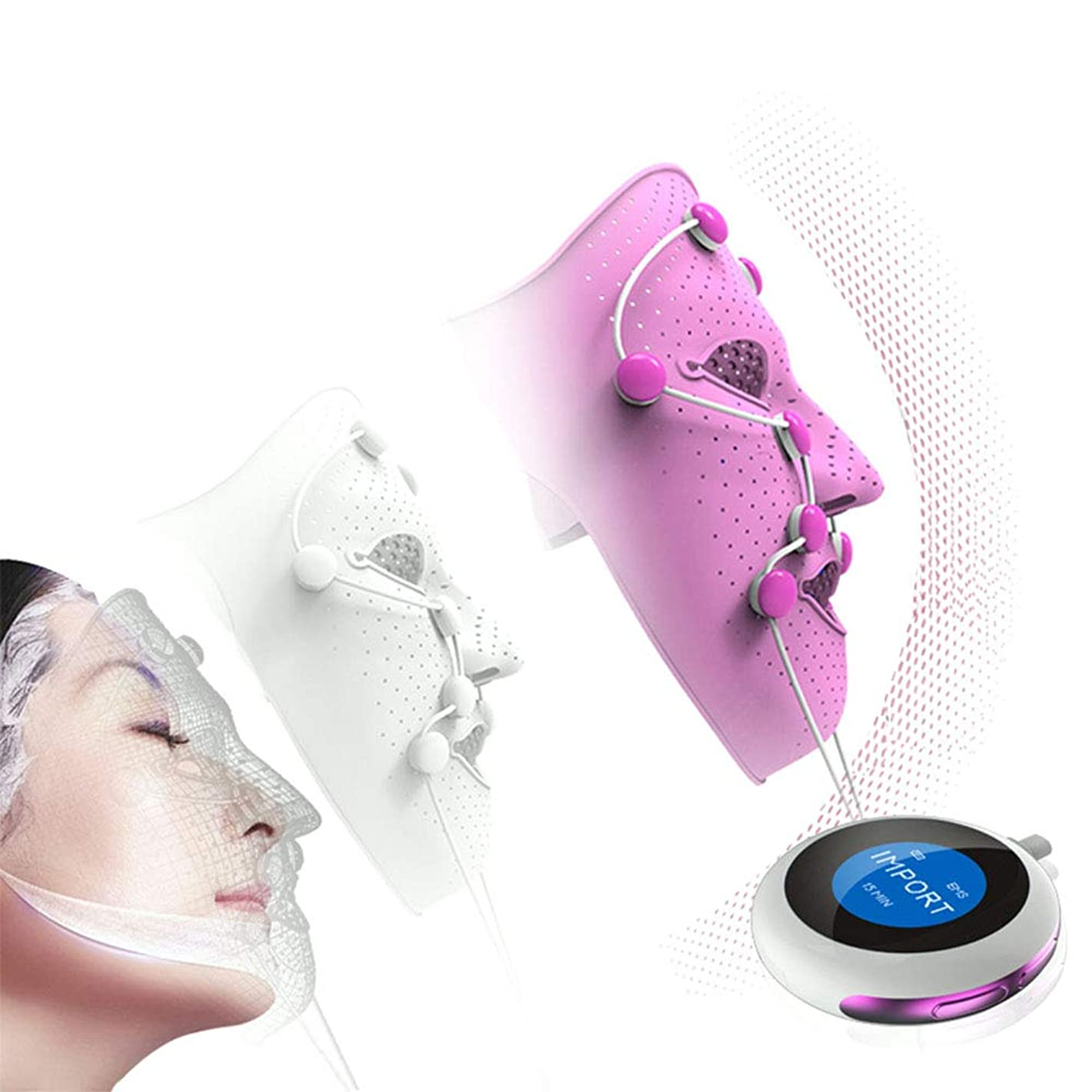 吐き出すトマト脱走マスクの器械の美の表面カバーEMSの顔の解毒の美装置