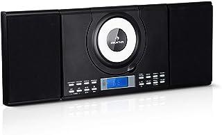 auna Wallie Microsystem - Equipo estéreo , Microcadena , 2 Altavoces de 10 W de Potencia Media , Reproductor de CD , Radio...