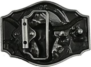 D DOLITY Embossed Bull Head Vintage Belt Buckle West Cowboy Buckle Mens Accessory