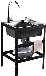Supporto in spugna Durevole stendino per stendibiancheria Rubinetto per ripiano Black RY-SLZW-H cestello di scarico per lavandino per bagno Cucina di casa Posizionamento di