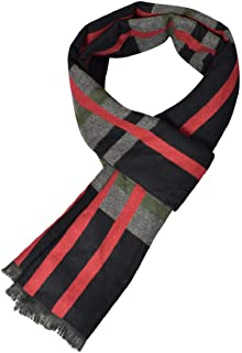 HEFYBA chal largo color s/ólido exteriores cuello de monta/ña para invierno Bufanda de forro polar para hombre