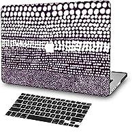 FULY-CASE プラスチック製のウルトラスリムライトハードシェルケース対応のある新しいMacBook Pro 15インチタッチバー/タッチIDUSキーボードカバー A1707/A1990 (抽象インク 0155)