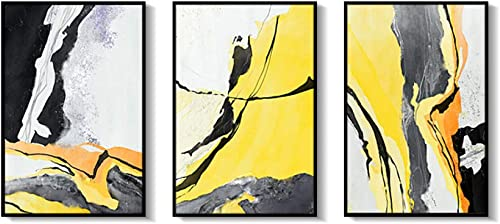 deportes calientes DEED DEED DEED Pintura Abstracta Minimalista Moderna, Pintura Decorativa Triple geométrica del Arte de la línea, Pintura Decorativa de la Sala de Estar, Mural de la cabecera del Dormitorio  primera reputación de los clientes primero
