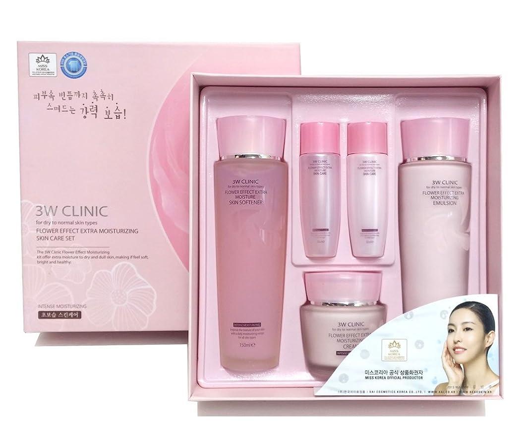 欺メダリスト機知に富んだ[3W CLINIC] フラワーエフェクトエクストラモイスチャライジングスキンケアセット / Flower Effect Extra Moisturizing Skin Care Set / ヒアルロン酸 / hyaluronic acid / 韓国化粧品 / Korea Cosmetics [並行輸入品]