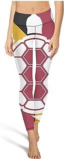 medssii Women Yoga Pants Tortoise Maryland Tummy Hips Yoga Leggings with Pockets
