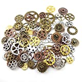 200 Gram Antique Steampunk Gear,Mix Steampunk Wheel,Alloy Gear Pendants Charms for Crafting,Jewelry Making