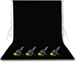 Emart Photo Studio 10 x 12ft Black Backdrop Screen, Seamless Chromakey Backdrop Muslin Background Screen for Photography