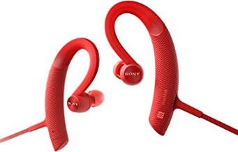 Sony MDR-XB80BS Red Premium Waterproof Bluetooth Wireless Extra Bass Sports in-Ear 7 Hr of Playback Headphones/Microphone (International Version)