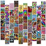 60 Stück Indie Raumdekoration für Schlafzimmer, ästhetisches Grunge Kidcore Fotocollage-Set Wandkunst Bilder Indie Collage Kit für Teenager Mädchen, 10,2 x 15,2 cm Fotosammlung