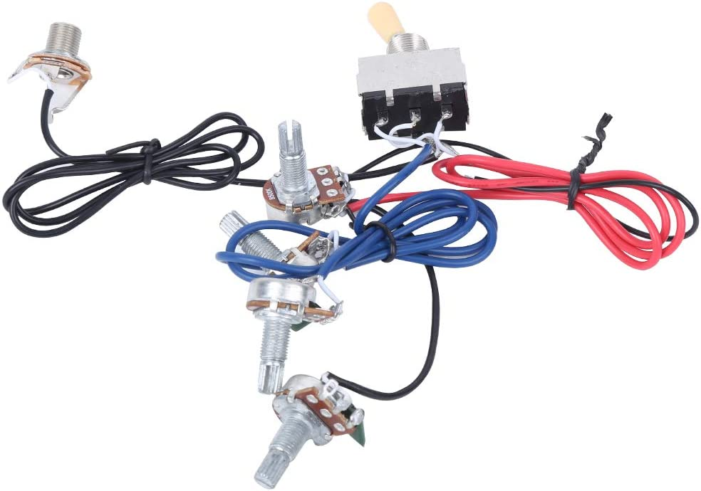 Prewired 3 Way Switch for Electric Guitar Wire Accessories Guitar Wiring Harness Kit black