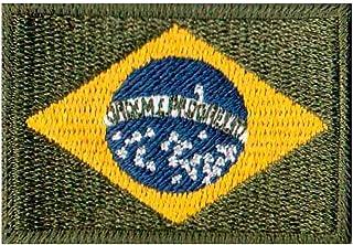 Patch Bordado - Bandeira Do Brasil Verde Escuro BD50050-113 Termocolante Para Aplicar