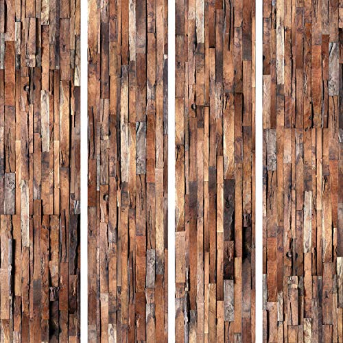 murando - PURO TAPETE selbstklebend Holzoptik 10m Wandtattoo dekorative Möbelfolie Dekorfolie Fotofolie Panel Wandaufkleber Wandposter Wandsticker - Holz f-A-0205-j-b