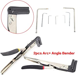 Bending Machine, Angle Bender Sign Pliers Letter Bending Machine, 2 Pcs Manual Sheet Metal Strip Bender Arc+ Angle Bender Sign Pliers Letter Bending