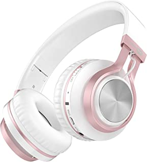 Baseman Wireless Bluetooth Headphones with Mic, On Ear Lightweight Foldable Wired Headphones, Hi-Fi Stereo Earphones Deep ...