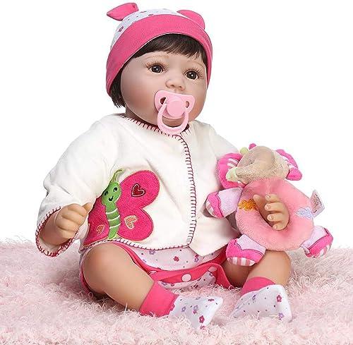 bajo precio del 40% Lazder 22 pulgadas 55 cm muñeca Reborn Reborn Reborn Bebé Niño Silicon  lista niña Dormir Doll Juguete  calidad garantizada