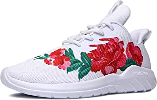 soulsfeng Hommes Femmes Chaussures Blanc et Noir Chaussures À Lacets Chaussures de Sport Amorti Respirant Tissu Mesh Chaus...