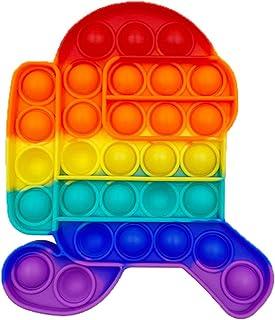 Funyplus Fidget Toy Pop Push Pop, Pop Bubble Jouet Anti-Stress sensoriel Relaxant. Jouet sensoriel, autisme. Squeeze, soul...