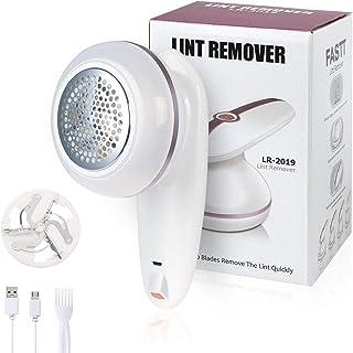 URAQT Rasoir Anti-Bouloche, USB Rechargeable Anti-Peluche, Tondeuse à Textile, Rasoir Textile électrique avec Lame de Rech...