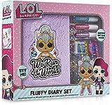 L.O.L. Surprise! Girls Diary Journal Set   LOL Fluffy Diary Set für Mädchen mit Plüsch Cover und Sticker   Tolles Geschenk für Kinder -