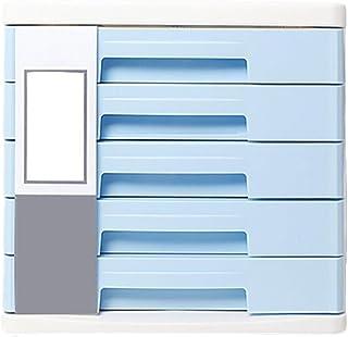 Armoires de fichiers de Bureau 5 tiroirs de Type A4 (Couleur : Bleu)